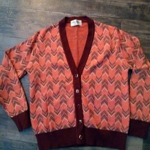 VINTAGE Japanese Chevron Striped Sweater Cardigan